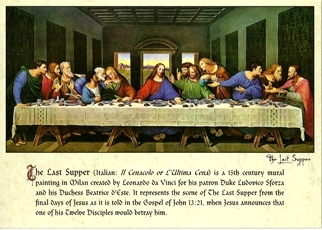 24 (2 Dozen OF The Same Design) Postcard The Last Supper By Leon