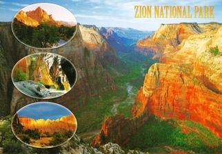 30x Postcard Of Zion National Park