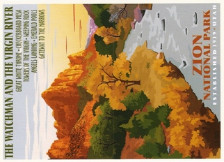 Postcard Of Zion National Park (Art)