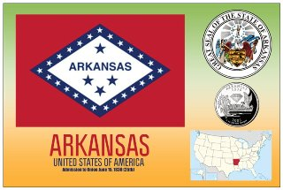 12 (1 Dozen OF The Same Design) Postcard of ARKANSAS- United Sta
