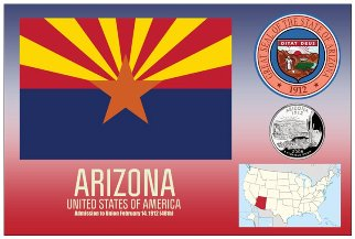 12 (1 Dozen OF The Same Design) Postcard of ARIZONA- United Stat