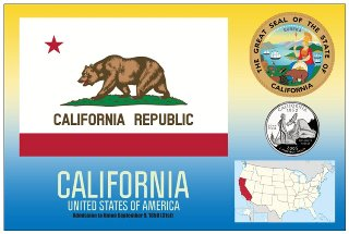 12 (1 Dozen OF The Same Design) Postcard of CALIFORNIA- United S