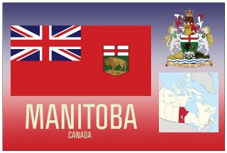 12 (1 Dozen OF The Same Design) Postcard of MANITOBA- Canada