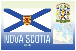 12 (1 Dozen OF The Same Design) Postcard of NOVA SCOTIA- Canada