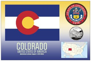 12 (1 Dozen OF The Same Design) Postcard of COLORADO- United Sta
