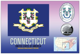 12 (1 Dozen OF The Same Design) Postcard of CONNECTICUT- United