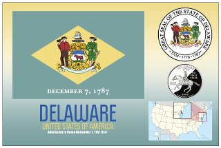 12 (1 Dozen OF The Same Design) Postcard of DELAWARE- United Sta