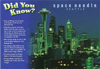 Postcard Did You Know Space Needle SEATTLE