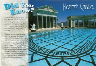 Postcard Did You Know Neptune Pool HEARST CASTLE