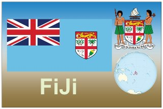 Postcard of REPUBLIC OF FIJI