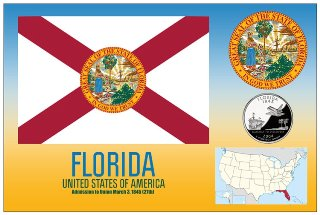 12 (1 Dozen OF The Same Design) Postcard of FLORIDA - United Sta