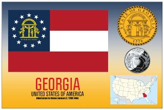 12 (1 Dozen OF The Same Design) Postcard of GEORGIA- United Stat
