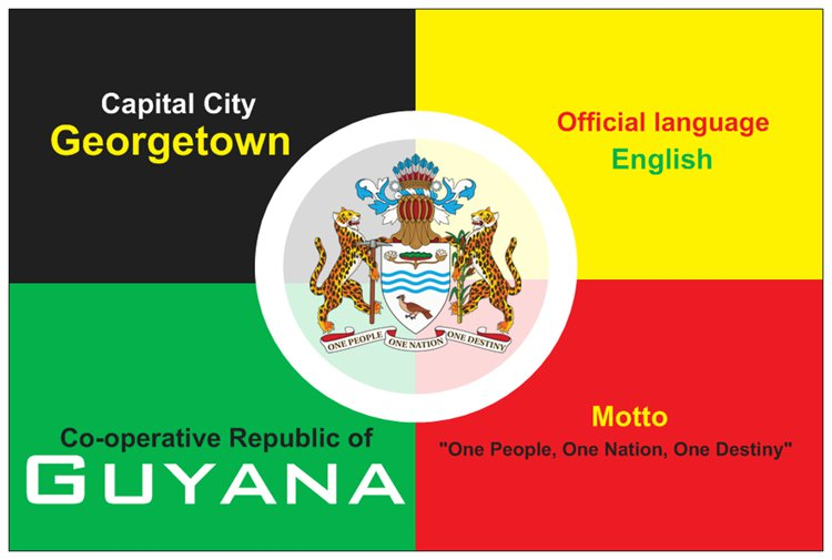 Postcard of Guyana\'s Coat of Arms