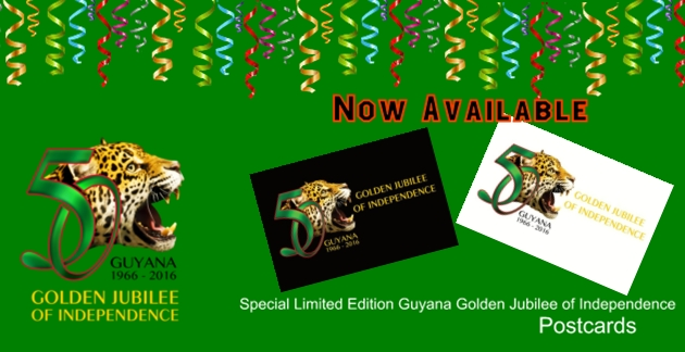 Postcard of Guyana's Golden Jubilee of Independence