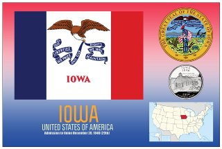 12 (1 Dozen OF The Same Design) Postcard of IOWA - United States