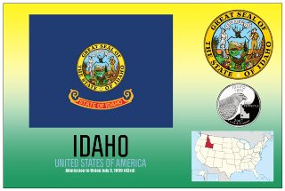 12 (1 Dozen OF The Same Design) Postcard of IDAHO- United States