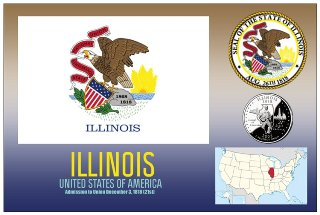 12 (1 Dozen OF The Same Design) Postcard of ILLINOIS- United Sta