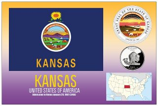 12 (1 Dozen OF The Same Design) Postcard of KANSAS- United State