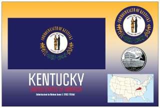12 (1 Dozen OF The Same Design) Postcard of KENTUCKY- United Sta