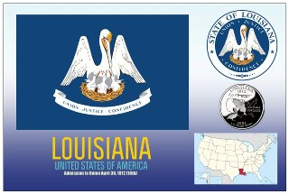 12 (1 Dozen OF The Same Design) Postcard of LOUISIANA- United St