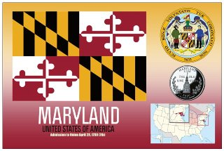 12 (1 Dozen OF The Same Design) Postcard of MARYLAND - United St