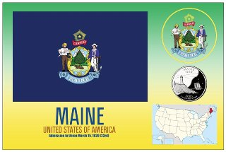 12 (1 Dozen OF The Same Design)Postcard of MAINE- United States