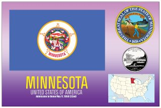 12 (1 Dozen OF The Same Design) Postcard of MINNESOTA - United S