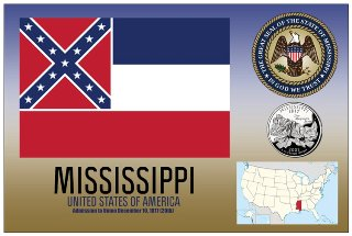 12 (1 Dozen OF The Same Design) Postcard of MISSISSIPPI - United