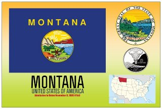 12 (1 Dozen OF The Same Design) Postcard of MONTANA - United Sta