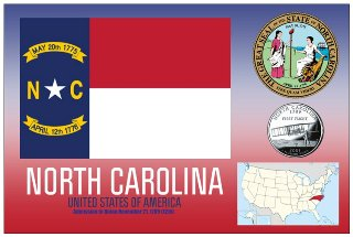 12 (1 Dozen OF The Same Design) Postcard of NORTH CAROLINA- Unit