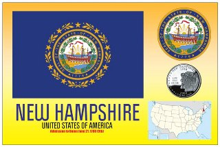 12 (1 Dozen OF The Same Design) Postcard of NEW HAMPSHIRE- Unite