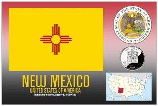 12 (1 Dozen OF The Same Design) Postcard of NEW MEXICO- United S