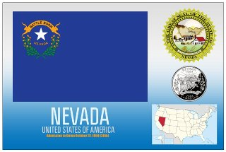 12 (1 Dozen OF The Same Design) Postcard of NEVADA- United State