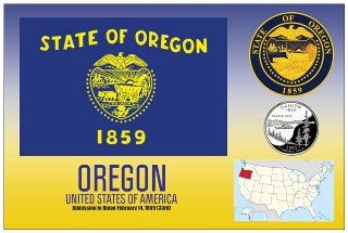 12 (1 Dozen OF The Same Design) Postcard of OREGON- United State
