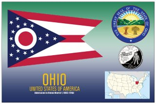 12 (1 Dozen OF The Same Design) Postcard of OHIO - United States