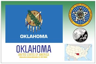 12 (1 Dozen OF The Same Design) Postcard of OKLAHOMA- United Sta