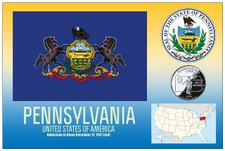 12 (1 Dozen OF The Same Design) Postcard of PENNSYLVANIA- United