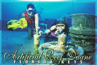 "36x Postcard Of Artificial Reef ""Duane\"", Key Largo ( With Recipe"