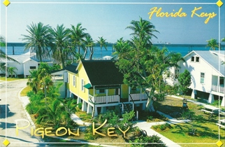 Postcard Of Pigeon Key Florida Keys (With Recipe on Back).