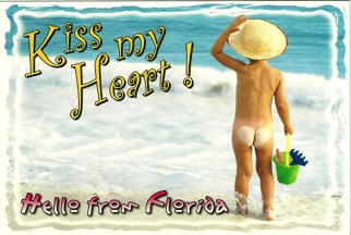 Postcard KISS MY HEART! Hello From Florida