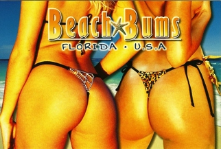 17x Postcard Beach Bums FLORIDA USA.