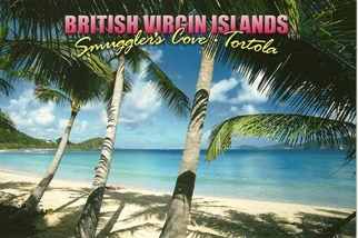 18x Postcard Of Smuggler\'s Cove Tortola BRITISH VIRGIN ISLANDS