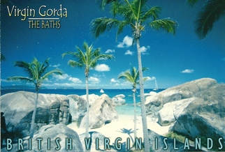 21x Postcard The Baths, Virgin Gorda BRITISH VIRGIN ISLANDS