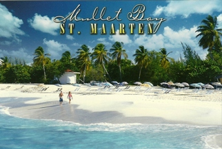 12 (1 Dozen OF The Same Design)  Postcard Of Mullet Bay St. Maar