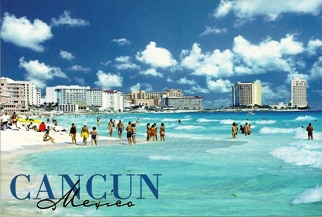24x Postcard Of CANCUN MEXICO.