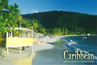 22x Postcard Of Caribbean (Beach).