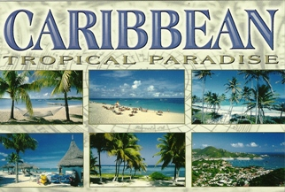 10x Postcard Of Caribbean Tropical Paradise -Beaches