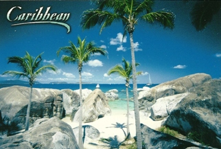 31x Postcard Of Caribbean (Beach).