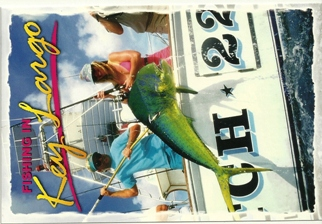 11x Postcard Fishing In Key Largo ( With Recipe on Back).