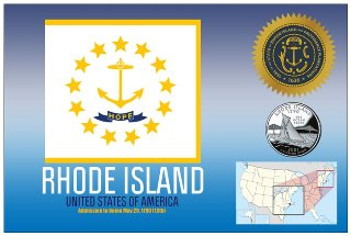 12 (1 Dozen OF The Same Design) Postcard of RHODE ISLAND- United